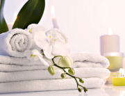 Clean Towels at Catalina Sea Spa