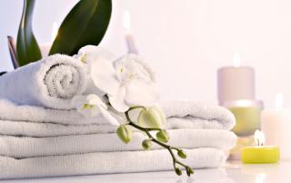 Clean Towels at Catalina Sea Spa